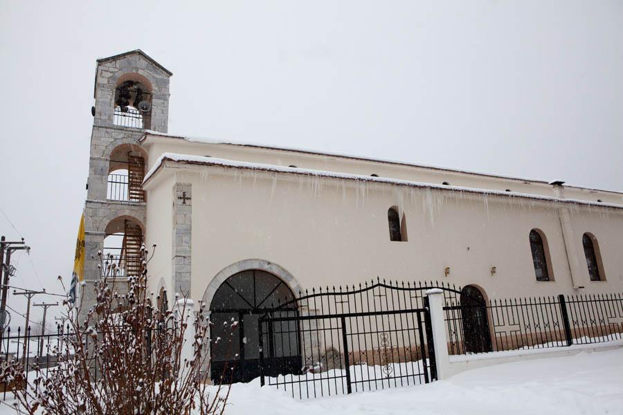 Η χιονισμένη βάπτιση της Σοφίας στη Λευκόγια Νευροκοπίου